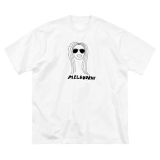ゆるいメルボルン Big silhouette T-shirts