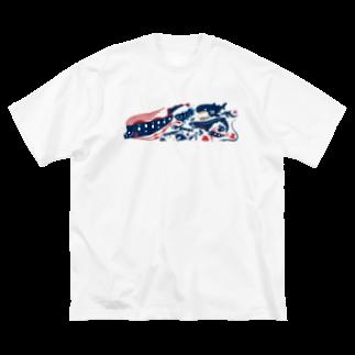 みなとまち層の深海魚A Big silhouette T-shirts
