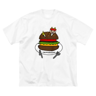 ONIMARUSAN Big silhouette T-shirts