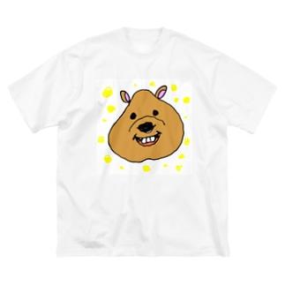 ゆるゆるクアッカワラビーちゃん Big silhouette T-shirts