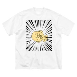 たい焼きさん Big silhouette T-shirts