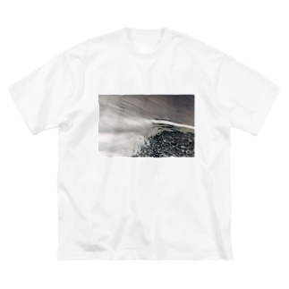 反転した海 Big silhouette T-shirts