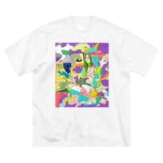 POP GIRL #9 Big silhouette T-shirts
