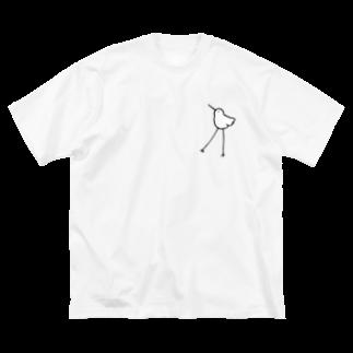 さわいあみのあしながいとり Big silhouette T-shirts