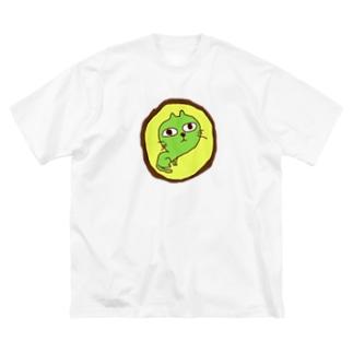 真実を見極める顏 Big silhouette T-shirts