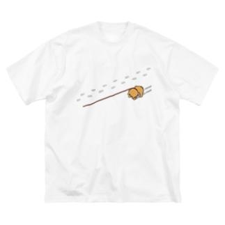 雪のイヤイヤ柴犬 Big Silhouette T-Shirt
