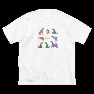hinat(a)ya store suzuri支店のひなたやざうるす 集合編 Big silhouette T-shirts