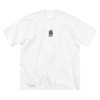 よろず堂 いろどり Big silhouette T-shirts