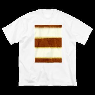 Danke Shoot Coffeeのティラミスの断面 Big silhouette T-shirts