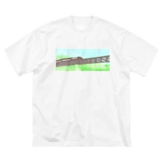 山岳鉄道 Big silhouette T-shirts
