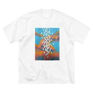 生れ落ちる Big silhouette T-shirts