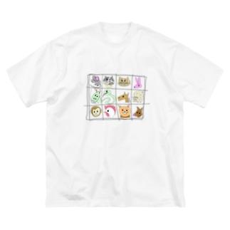十二支 Big silhouette T-shirts
