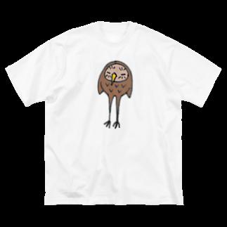 emiのあしながい Big silhouette T-shirts