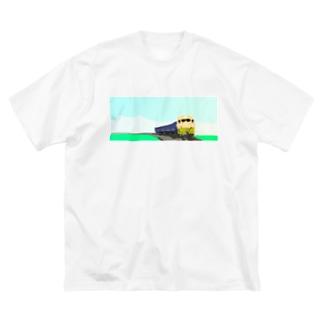 田園を走る Big silhouette T-shirts