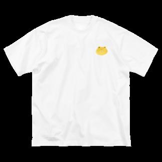 さわいあみの茶くま Big silhouette T-shirts