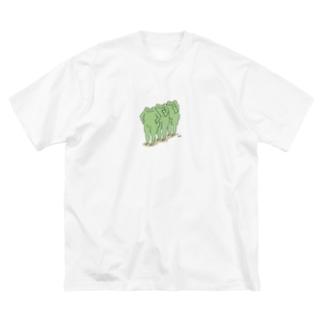小さく前へならえ Big silhouette T-shirts