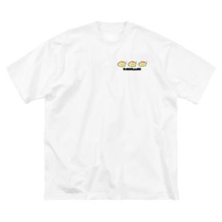 あせあせオムかめ Big silhouette T-shirts