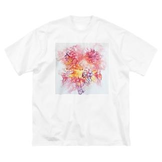 PinkFluidFlowers Big Silhouette T-Shirt
