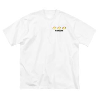 ふにゃあオムかめ Big silhouette T-shirts