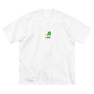 カメ子さん Big silhouette T-shirts