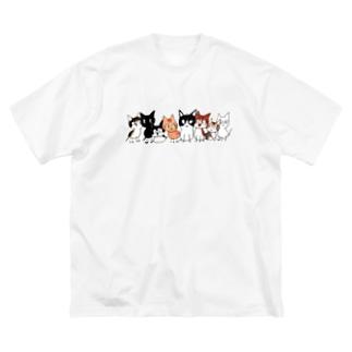 うちのこ8にゃんず- 文字なし Big silhouette T-shirts