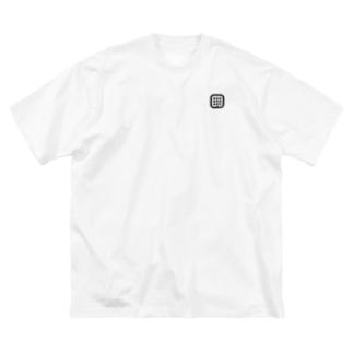 はるniアイコン(黒)【両面印刷】  Big silhouette T-shirts