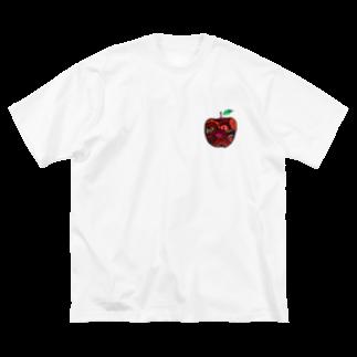 creat_tonakaiのアップル Big silhouette T-shirts