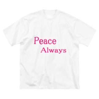 Peace Always Big silhouette T-shirts
