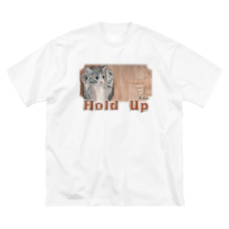 あとりえ・せとのHOLD UP Big silhouette T-shirts
