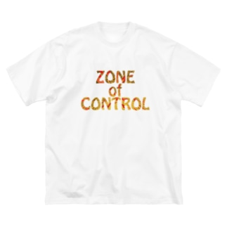 ZONE OF CONTROL Big silhouette T-shirts