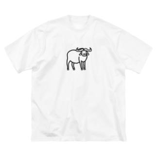 アフリカンバッファロー Big silhouette T-shirts