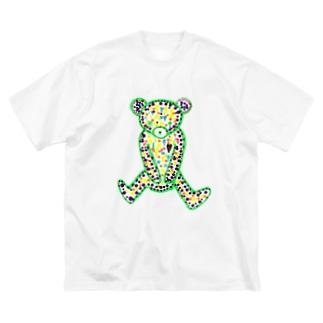 悪い子クマクマ Big silhouette T-shirts