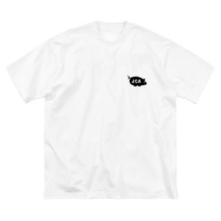JCAの豚 Big silhouette T-shirts