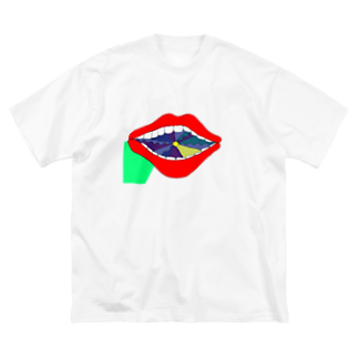 Ekumarimitsuko8の唇 うちからの光 Big silhouette T-shirts