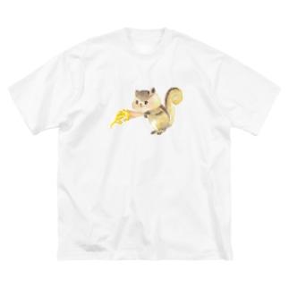 はい、どーじょ。_アイス編_ Big silhouette T-shirts