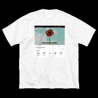 Dé PAYSEMENTのDé  PAYSEMENT flower Big silhouette T-shirts
