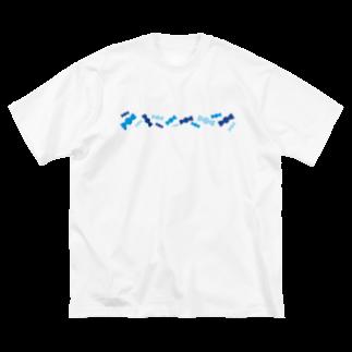 つきしょっぷの青いキャンディ Big silhouette T-shirts