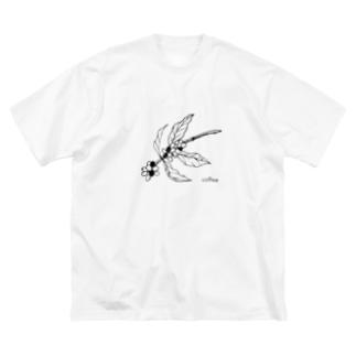 モノクロコーヒー豆の木☕️I love coffee Big silhouette T-shirts