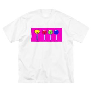 色と光のロリポップ Big silhouette T-shirts