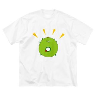 太陽イメージで、イッちゃんこと大崎一番太郎くんを描きましたが、犬山パッパがドーナツと言ってくださったので、これはもう大崎ドーナツ太郎です★ Big silhouette T-shirts