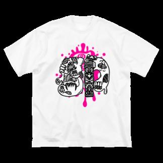 JOSTARDWのgp-slimeyslimey-logo Big silhouette T-shirts