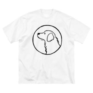 ゴールデン・レトリーバー〈線・円〉 Big silhouette T-shirts