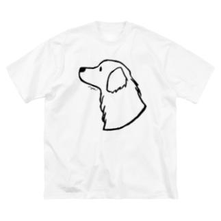 aya1のゴールデン・レトリーバー〈線〉 Big Silhouette T-Shirt