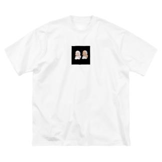 かちちゃんとはちちゃん Big silhouette T-shirts