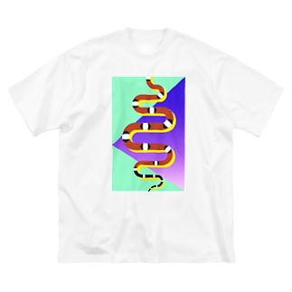 サイケなカリキン Big silhouette T-shirts