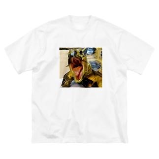 「極限口」 ロシアリクガメのサロンちゃんグッズ Big silhouette T-shirts