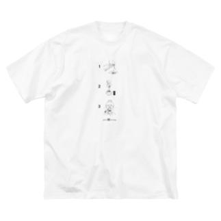 3step -katsuo- Big silhouette T-shirts