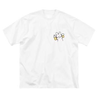 のむミミ美 Big silhouette T-shirts
