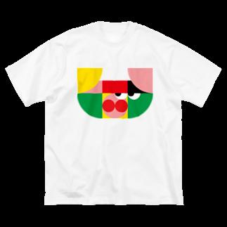 Yuta Ichinose Design Workのブタくん Big silhouette T-shirts