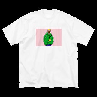 オオヤマ シオリのおやつとボーイ/donuts Big silhouette T-shirts
